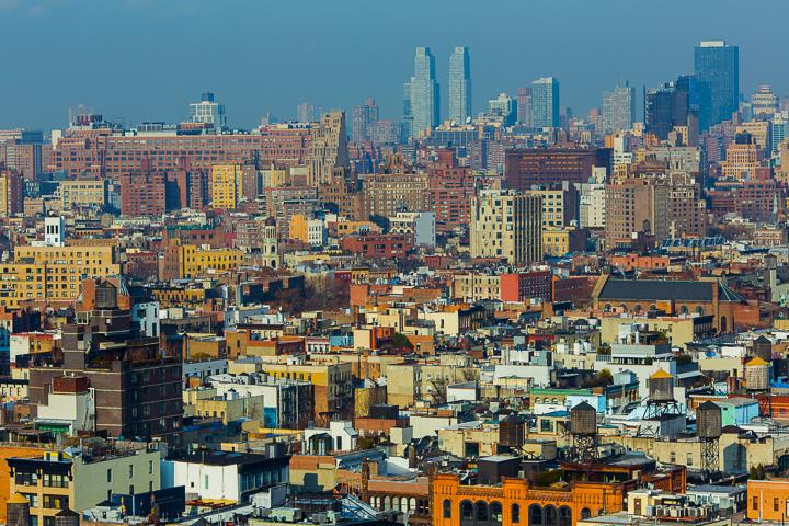 New York City Skyline from 401 Broadway. NY USA.