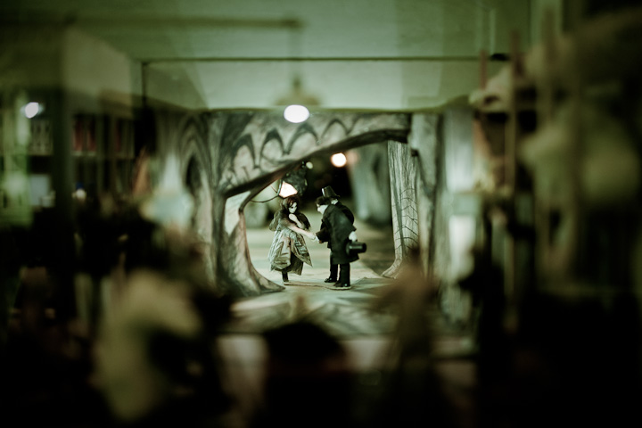 A model of 'The Cabinet of Dr. Caligari' at Deutsche Kinemathek, Berlin