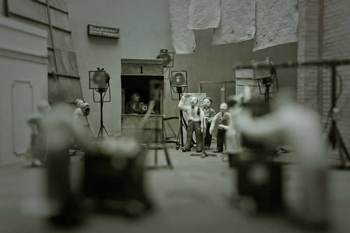 Film set model at Deutsche Kinemathek, Berlin