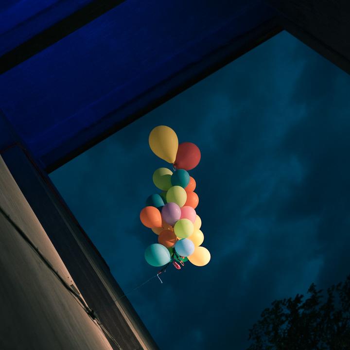 Balloons at Trädgården, Stockholm, Sweden.